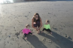 loving the beach with my girls!
