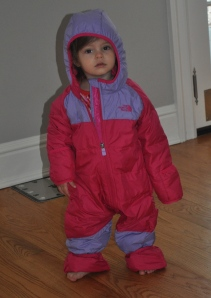 Snow suits! Thanks GG-pa!