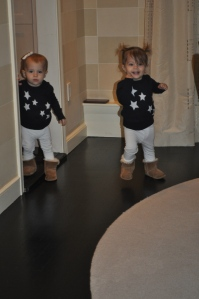 Walking around in our uggs!